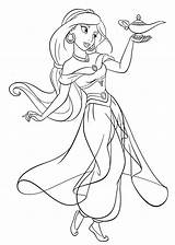 Jasmine Coloring Princess Disney Walt Characters Fanpop sketch template