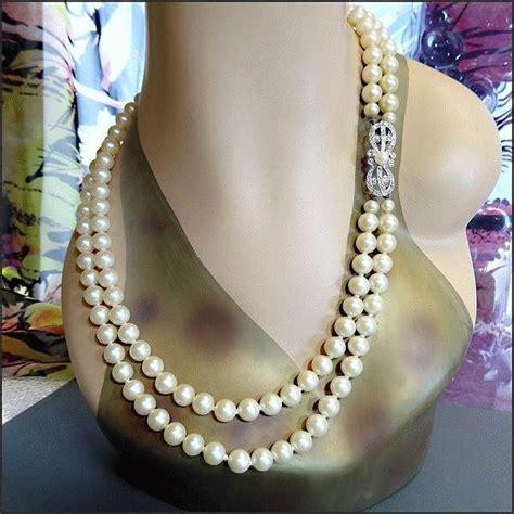 richelieu marvella vintage pearl necklace fancy clasp