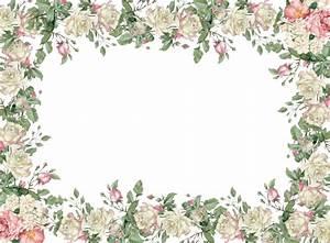 MeinLilaPark; white vintage rose frame png | PRINTABLES ...