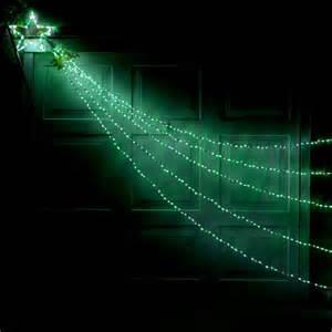 green and white led shooting star light festoon lighting