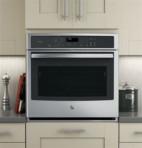 ge ptsfss   single electric wall oven   cu ft capacity true european