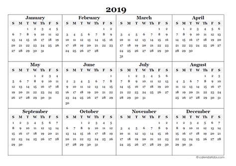 Calendar Template 2019 2019 Yearly Calendar Free Freemium Templates
