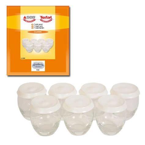 pots de yaourts seb seb pots de yaourts par 7 pour yg1001006w0 de marque pas cher achat vente yaourti 232 res