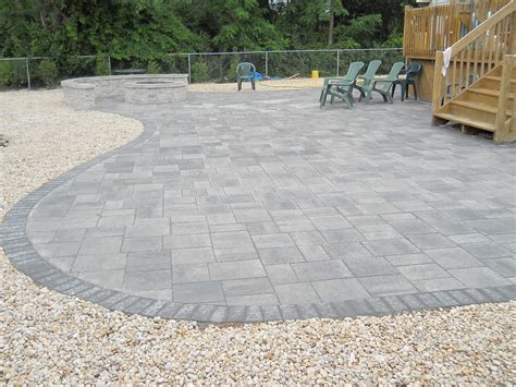 Grey Brick Pavers by Brick Paver Patio Services Forked River Ruggiero