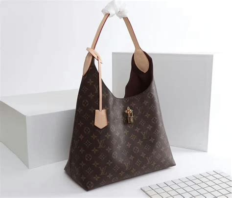 louis vuitton monogram canvas flower hobo beige