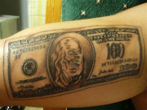 dollar bill tattoo