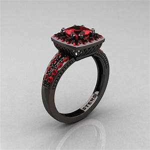 Possible wedding ring black and red 1111 pinterest for Black and red wedding rings