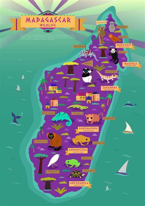 madagascar wildlife map artist unknown geography maps