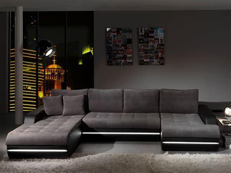 canape d angle en tissu design canapé d 39 angle fixe design en tissu gris pu noir alamak