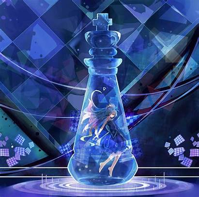 Chess Shiro Hair Anime Water Computer Desktop