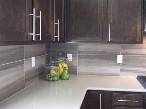 Contemporary 12 X 24 backsplash   Kitchen Backsplash