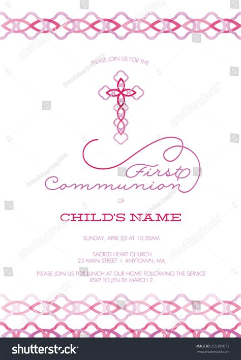 Pink And Purple Girl'S First Communion/Baptism/Christening