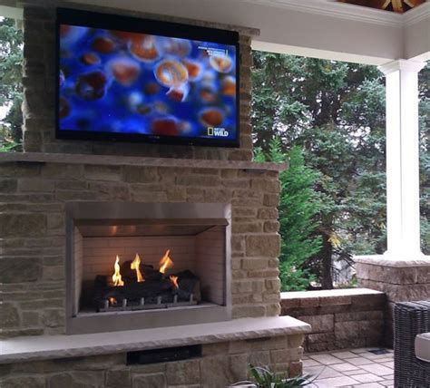 custom outdoor gas fireplace by s gas traditional