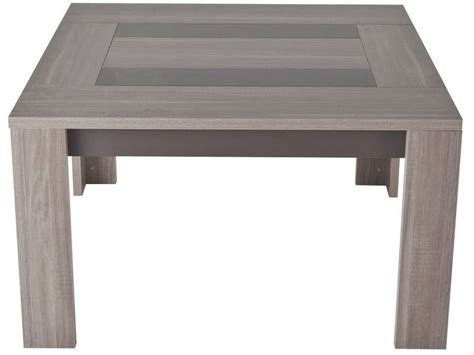 table de cuisine carree table carrée 130 cm atlanta coloris chêne fusain vente