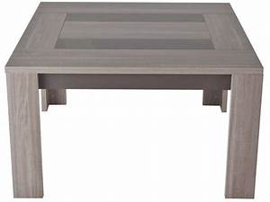 Table carrée 130 cm ATLANTA coloris chêne fusain Vente de Table de cuisine Conforama