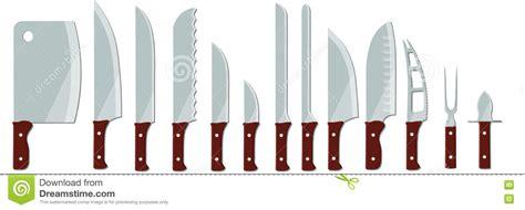 Verschiedene Arten Von Küchenmessern Vektor Abbildung