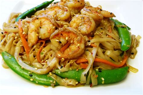 rice noodle recipe rice noodles and shrimp stir fry easy cooking