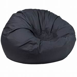 Flash, Furniture, Oversized, Solid, Gray, Bean, Bag, Chair