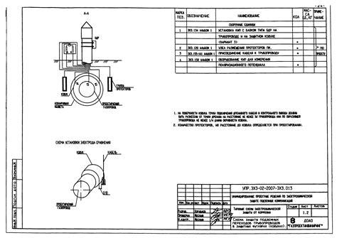 Рабочий проект электрохимической защиты газопровода на газораспределительной станции. Формат dwg