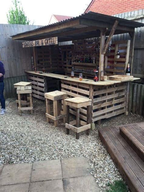 making  ultimate garden bar  pallets pallet