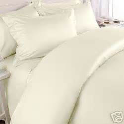 Solid Ivory/Cream 600 Thread Count King/Cal king Duvet