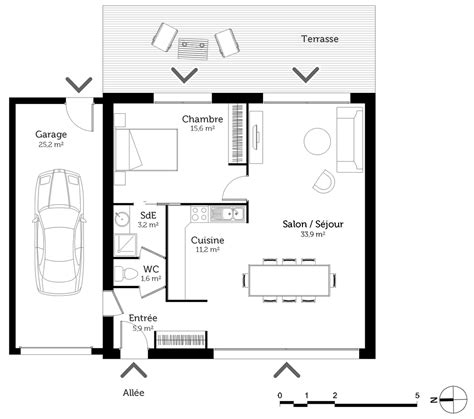 plan maison 1 chambre plan maison 70 m avec 1 chambre ooreka