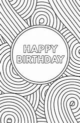 Birthday Printable Cards Coloring Card Happy Template Paper Pages Greeting Folding Trail Templates Dad Adults Boys Papertraildesign Printables Decorate Following sketch template