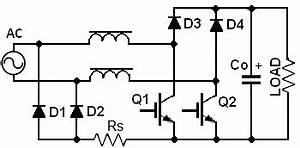 inrush current limiter for a high power rectifier With charging capacitor bank with current limiting circuit electrical