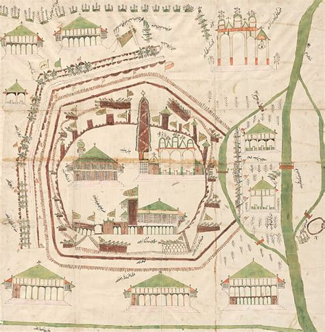 turkish plan    siege  vienna  coloured