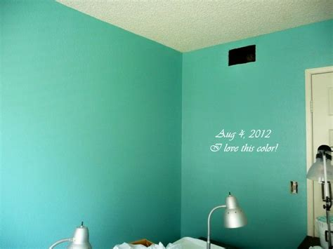 aqua wall paint maybe a lighter the place