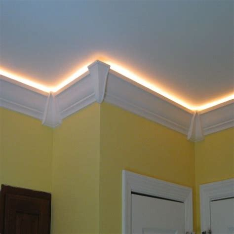 recessed ceiling crown molding crown accent lighting ropes and lighting on