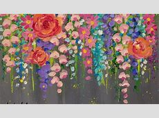 Paint Cotton Swab FLOWERS with Acrylics Easy Step by