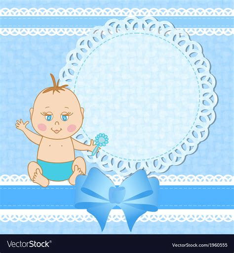 baby shower greeting card  baby boy royalty  vector