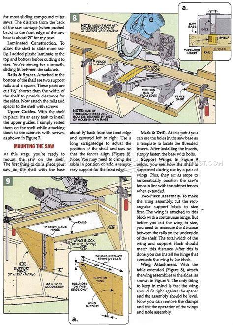 miter  station plans woodarchivist