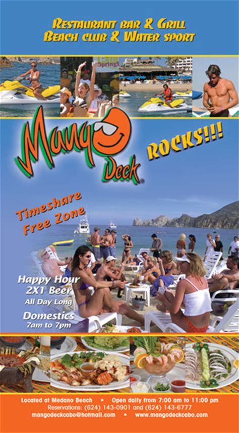 mango deck cabo happy hour mango deck los cabos visitor s guide issue 8 2008 2009