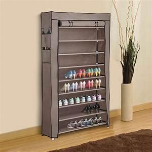 10, Layer, Shoe, Boot, Rack, Shelf, 45, Pairs, Storage, Closet, Organizer, Cabinet, W, Cover