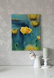 Blumen Gemälde In öl : mohn l malerei original l gem lde handgemachte rosen ~ A.2002-acura-tl-radio.info Haus und Dekorationen