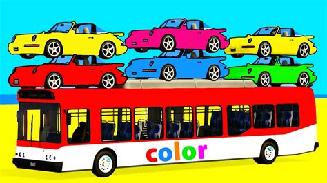 Bus And Color Car For Kids