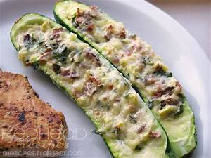 Redhead Recipes: Stuffed Zucchini
