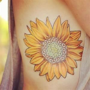 flower of life inside a sunflower   Tattoos   Pinterest ...