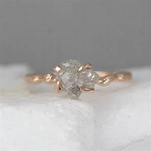 Twig Engagement Ring - 14K Rose Pink Gold Branch Rings ...