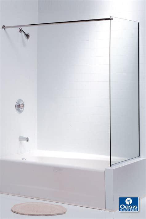 tub panels frameless glass shower spray panel oasis shower doors ma