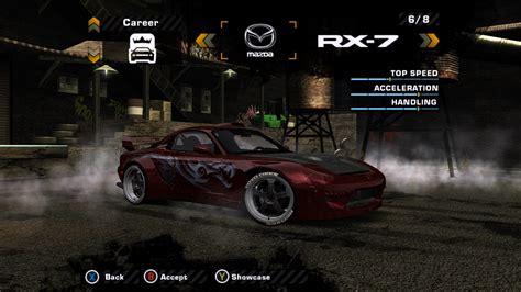 speed  wanted mazda rx   customization