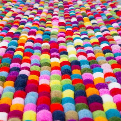 multi coloured felt rug cult uk