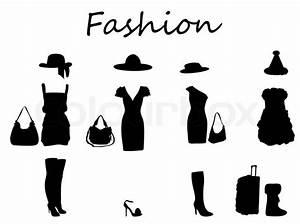 Beautiful fashion dress black & white Vector Illustration Stock Vector Colourbox