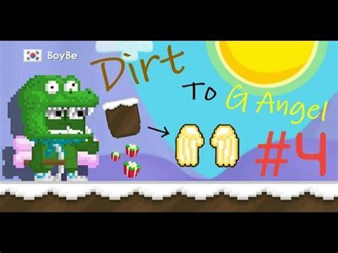 growtopia dirt   angel  making  moose cap youtube