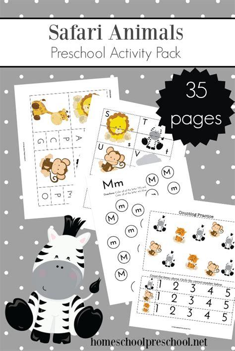 printable jungle animals preschool activity pack
