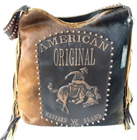 Cowhide Leather Purses by Raviani Western Brindle Cowhide Distressed Leather