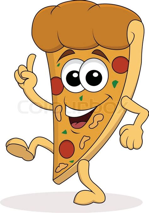 cuisine fast food pizza character vector colourbox