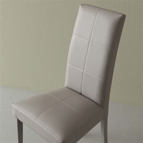 sedie schienale alto sedia schienale alto in ecopelle grigio janika